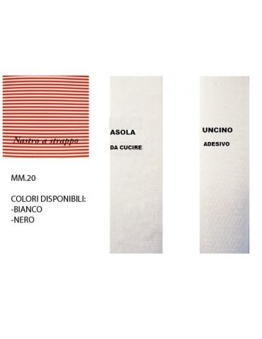 Velcro mm.20 Asola+Uncino...